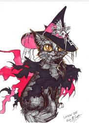 Inktober 2018 Witch Cat by Shadowind