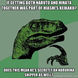 Philosoraptor:  Hiashi's keikaku by centeking