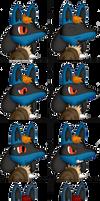Benjamin the Lucario Game Emotes (For NotMolo) by Unownace