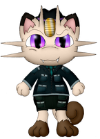 Seif the Meowth (For Shadowlord90) by Unownace