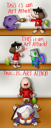 Smeargle Used Art Attack (1000 Watcher Special) by Unownace