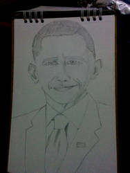 Obama sketch by Shiningflint