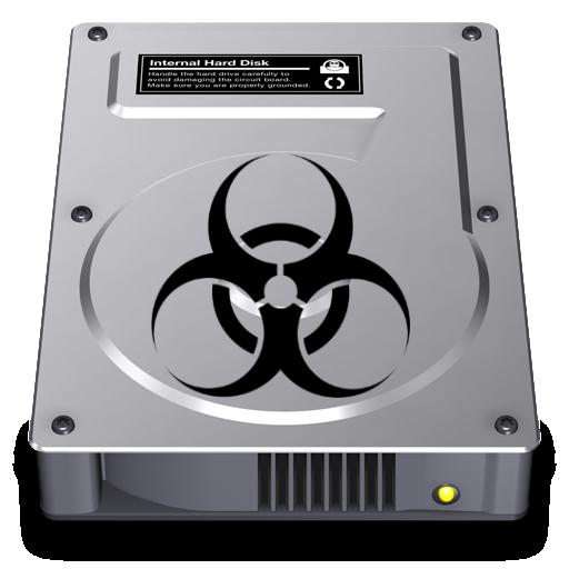 Biohazard Hard Disk Icon by darki113r