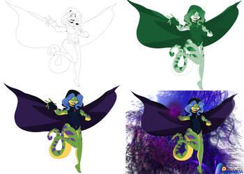 Geecku Raven - Step by Step by EdoNovaIllustrator