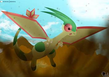 Flygon - The Song of the Desert by EdoNovaIllustrator
