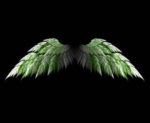 Fractal Angel Wings - Green by Shadoweddancer