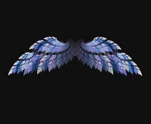 Fractal Angel Wings - Blue by Shadoweddancer