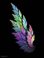 Rainbow Angel Wing by Shadoweddancer