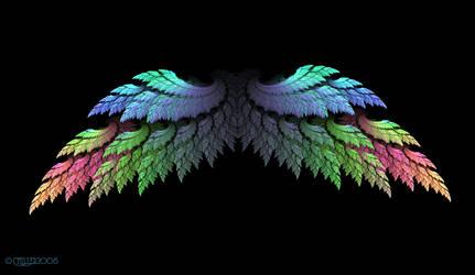 Spread Rainbow Angel Wings by Shadoweddancer