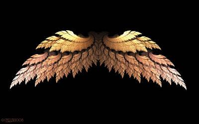 Golden Angel Wings by Shadoweddancer