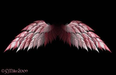 Spread Pink Angel Wings by Shadoweddancer