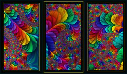 Triple Rainbows by Shadoweddancer