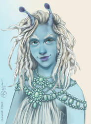 Character Commission: Calasheva Hy'Qiin by nikkidreamer
