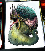 22/07/2018 - Glaaki, the Slug God of the Lake by hubertspala
