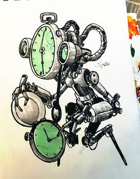INKTOBER'18 - #14 - Clock by hubertspala