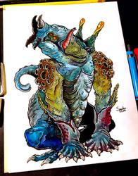 27/11/2018 - Bokrug, the Great Water Lizard by hubertspala