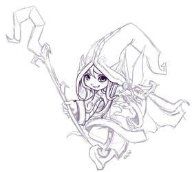 WIP - Lulu the Fae Sorceress by RinTheYordle