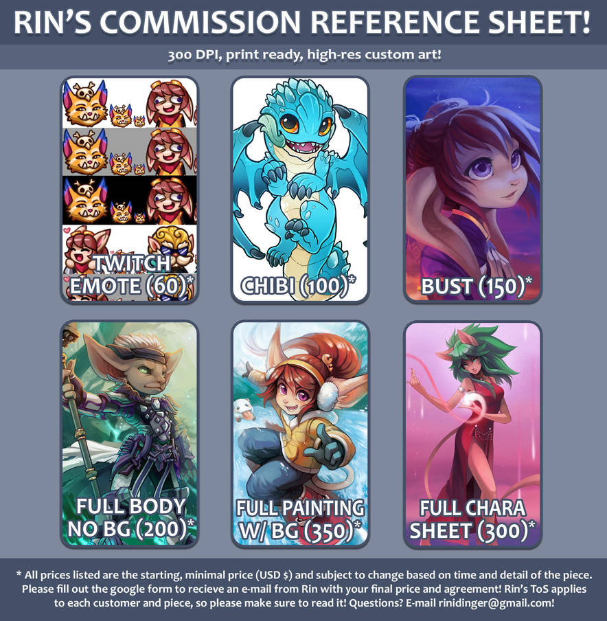 Rin's Commission Reference 2018! by RinTheYordle