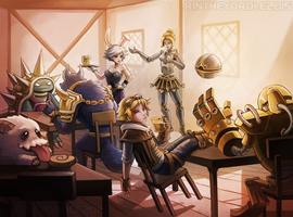 At The Bar - LoL Commission by RinTheYordle