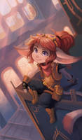 Atop the clock tower - mini business card print by RinTheYordle