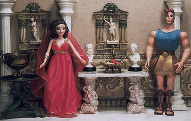 Disneys Hercules dollhouse by snosages
