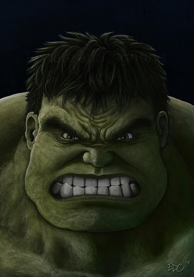 Hulk texture and lighting study by EdArtGaming