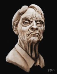 Clay bust study by EdArtGaming