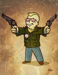 Fallout 4 vault boy - taxi driver by EdArtGaming