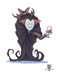Drawlloween 2016 Vampire by EdArtGaming
