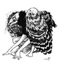 Skullbirdman by Treebone