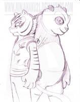 Po and Tigress by NinjaHaku21