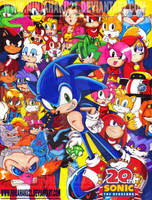 Sonic 20th Anniversary by NinjaHaku21
