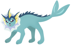 Vaporeon by Pterolycus