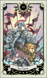 Tarot card 11- the Strength by rann-poisoncage