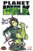 Patriot She-Hulk Sketch Cover by bulletproofturtleman