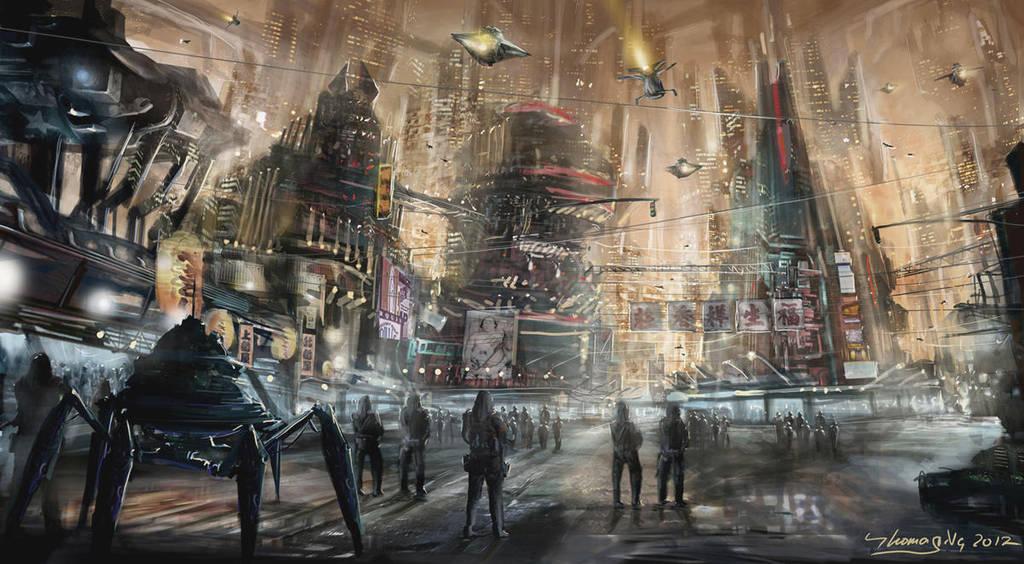 Future night street by Tommmyboy