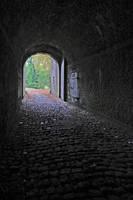 Tunnel on Namur Citadel by Lissou-photography