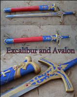 Caliburn and Avalon by Aoime