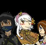 BBG 's friends armors by riyayah