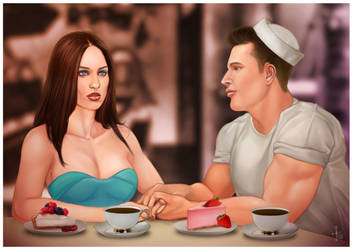 Cook and Rhonda commssion by Jonathan Chanutomo by Harryasaboy