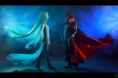 Captain Harlock and Miime 2 by Yui-Lang