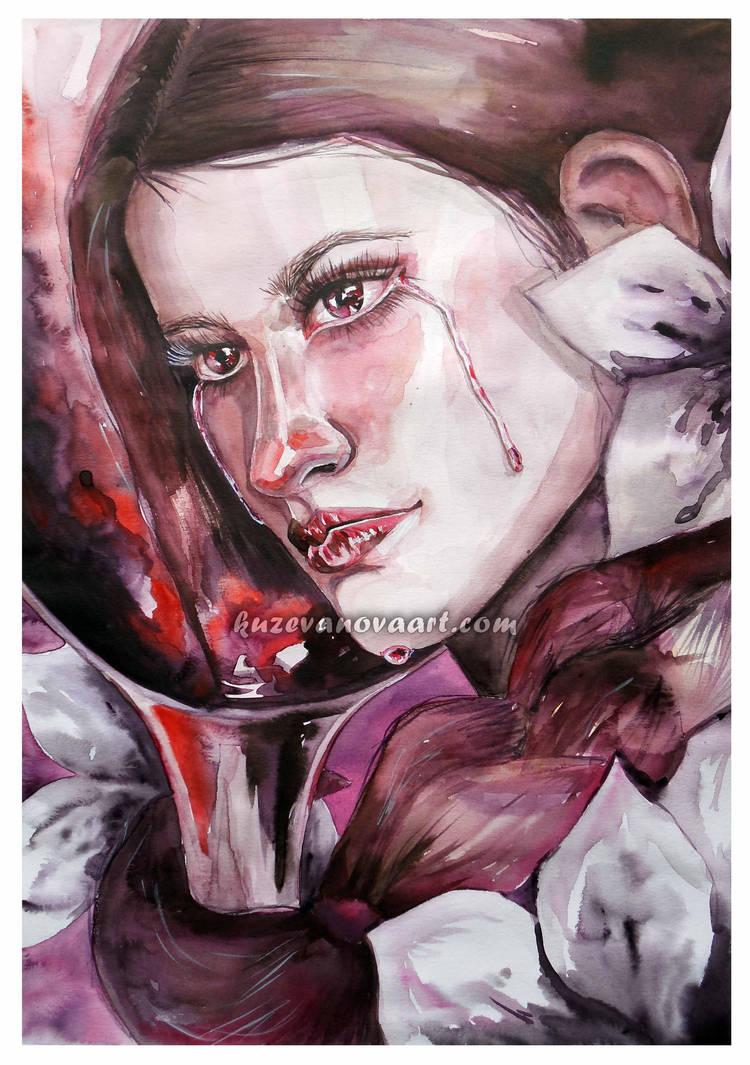 Tears in Red Wine by oksana-k-art