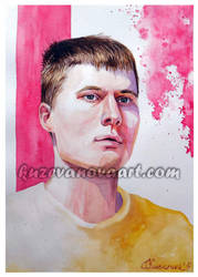 Man's portrait by oksana-k-art
