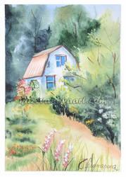 Summerhouse by oksana-k-art