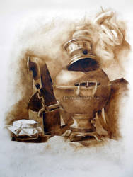 Still life with a samovar by oksana-k-art