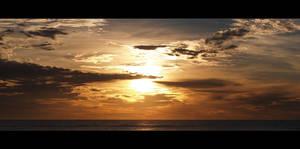 Ocean sunrise - Panorama by Cameron-Jung