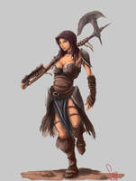 Barbarian Girl by maiwand85