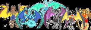 Dragons Teeth Clan Group 1 by Crystal-Rosewing
