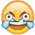 Open Eye Crying Laughing Emoji Emote by EricSonic18