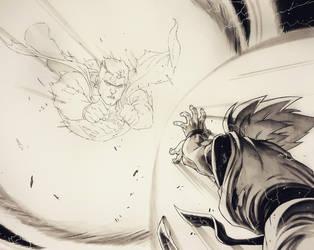 SUPERMAN vs GOKU by grandizer05